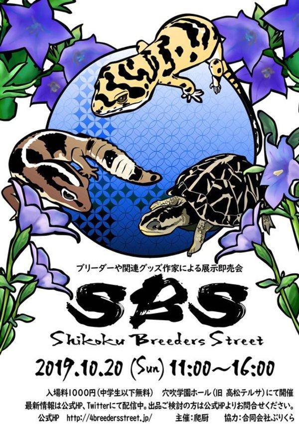 SBS四国ブリーダーズストリート出店&ボールパイソン出品リスト公開!!!